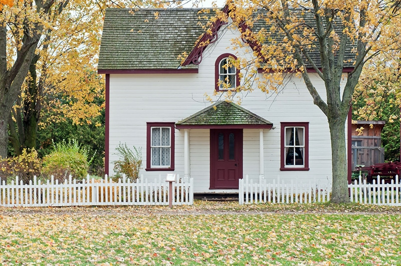 Deed-restricted homeownership (white home)